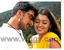 Sudeep and Nikhita in MaharajaSudeep and Nikhita in Maharaja