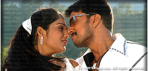 Sudeep and Nikhita in Maharaja
