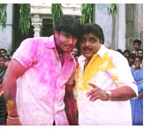Darshan and Ambarish in film Annavru