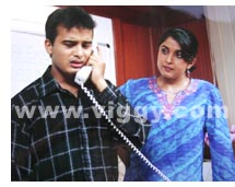 Sunil Rao and Ramya Krishna in film Baa Baaro Rasika