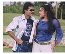 Shivaram and Meena in film Game