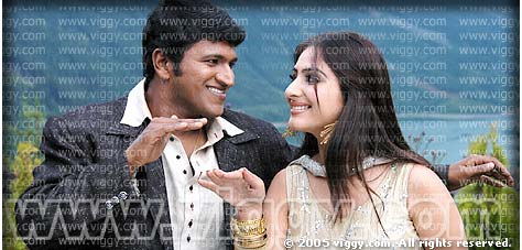 Puneeth Rajkumar and Gowri in Namma Basava
