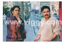 Geeta and Chandrashekhar in film Poorvapara