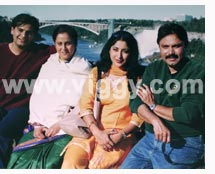 Naveen Mayur, Geeta, Lakshmi Gopalaswamy and Chandrashekhar in film Poorvapara