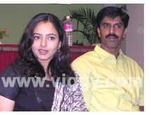 Actress Soundarya and her husband Raghu