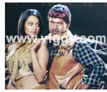 Anita and Punit Rajkumar in film Veera Kannadiga